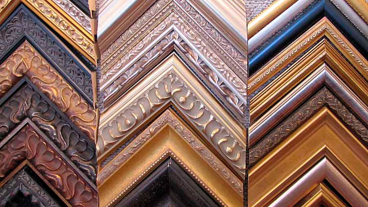choose from a wide range of modern clean lined or ornate profiled frames to enhance your art
